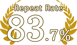 Repeat rate 83.7%